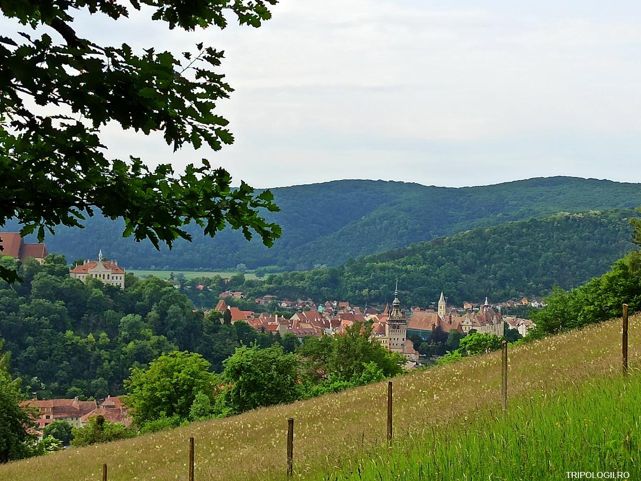 Sighisoara vazuta de pe dealul vecin